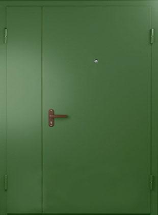Тамбурная дверь окрас зелёный