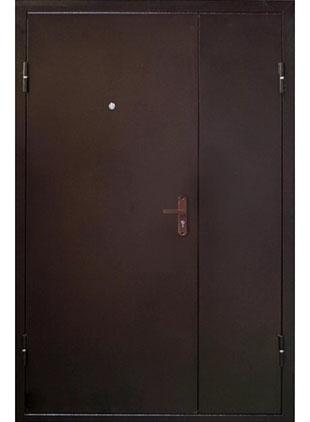 Тамбурная дверь окрас тёмно-коричневый