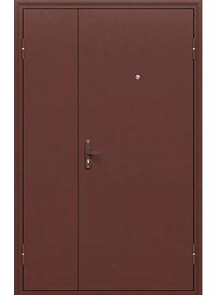 Тамбурная дверь окрас коричневый
