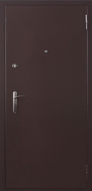Входные двери с нитроэмалью (цвет коричневый)