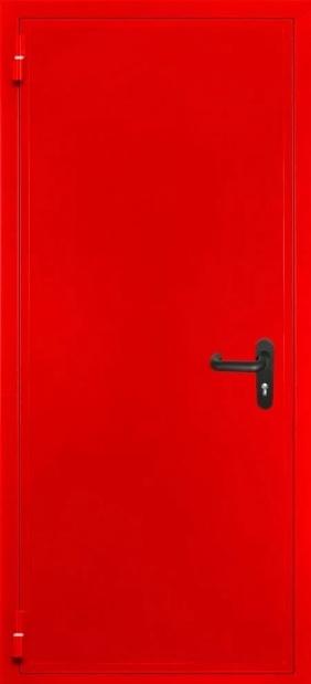 Входные двери с окрасом нитроэмалью (красный)