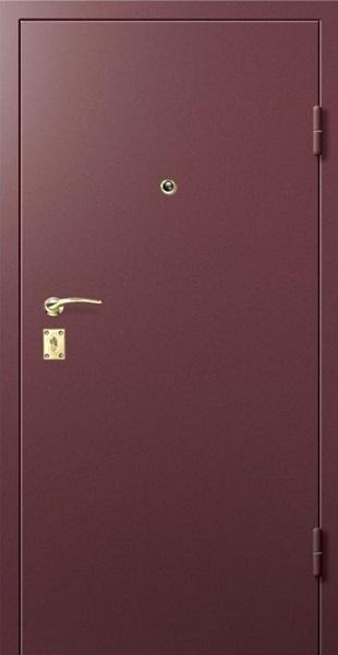 Входные двери с окрасом нитроэмалью (Глубокий коричневый)