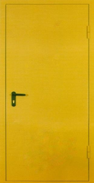 Входные двери с окрасом нитроэмалью (жёлтый)