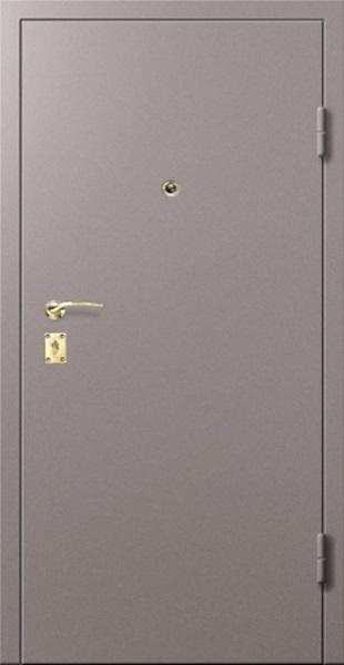 Входные двери с окрасом нитроэмалью (светло-серый)