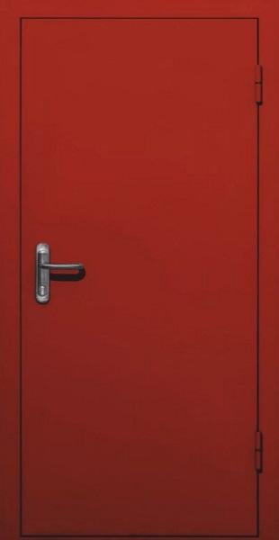 Входные двери с окрасом нитроэмалью (тёмно-красный)