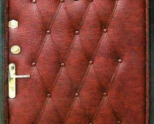 Входные двери с винилискожей индия (вишня-дутая)