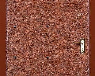 Входные двери с винилискожей боди (коричневый-эконом)