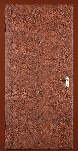 двери с винилискожей боди коричневый-эконом