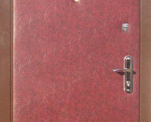 Входные двери с винилискожей боди (вишня)